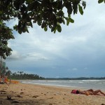 Pláž Weligama na Srí Lance