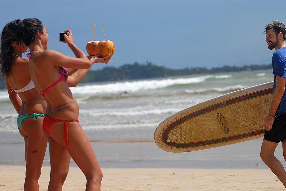 Podařená momentka z pláže Weligama na Srí Lance