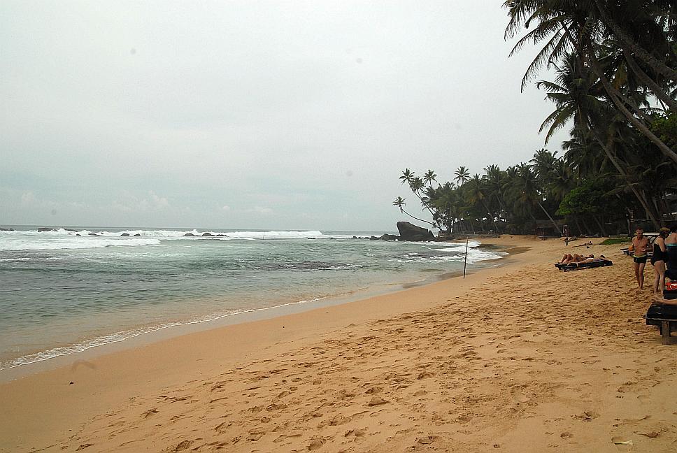 První koupání na Srí Lance
