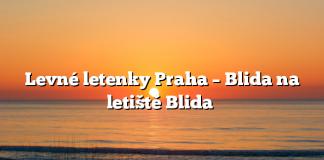 Levné letenky Praha – Blida na letiště Blida