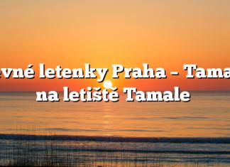 Levné letenky Praha – Tamale na letiště Tamale