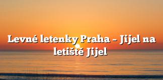 Levné letenky Praha – Jijel na letiště Jijel