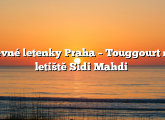 Levné letenky Praha – Touggourt na letiště Sidi Mahdi